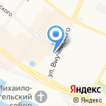Армянская шашлычная на карте Архангельска