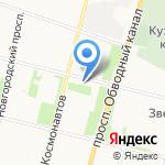 Божья коровка на карте Архангельска