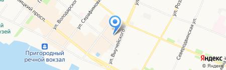 Ателье на карте Архангельска