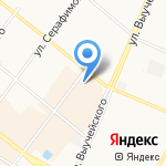 Двинские на карте Архангельска