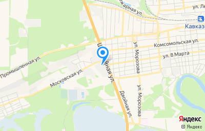 Местоположение на карте пункта техосмотра по адресу Краснодарский край, Кавказский р-н, г Кропоткин, ул Московская, д 273