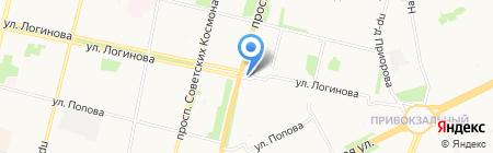 Шарлотта на карте Архангельска