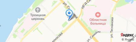 Архангельский финансово-промышленный колледж на карте Архангельска