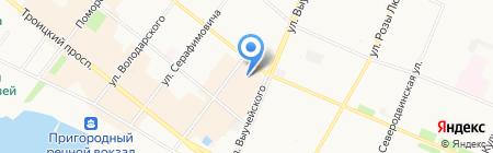 Промет на карте Архангельска