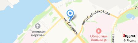 Рассвет на карте Архангельска