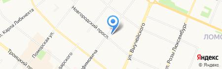 Эй Си Нильсен на карте Архангельска
