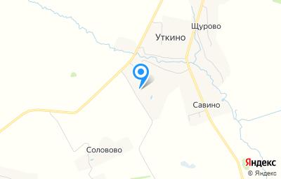 Местоположение на карте пункта техосмотра по адресу Рязанская обл, Клепиковский р-н, д Уткино