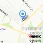 Славянка на карте Архангельска