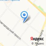 Вектор на карте Архангельска