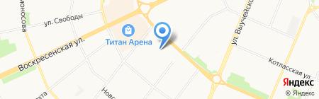 Эконом-класс на карте Архангельска