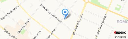 Федеральная система кадровой безопасности на карте Архангельска