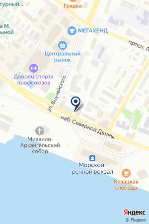 СКБ-Банк на карте Архангельска