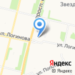 АрхангельскГражданРеконструкция на карте Архангельска