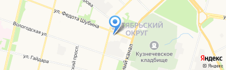 Умелец на карте Архангельска