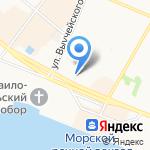 Авиамир на карте Архангельска