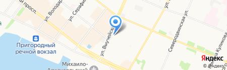 Копировальный центр на карте Архангельска