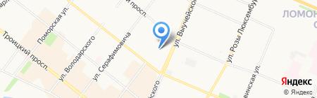 Аргос на карте Архангельска