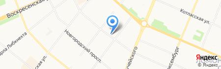 Северное на карте Архангельска