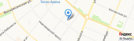 Руна на карте Архангельска