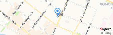 Бравио на карте Архангельска