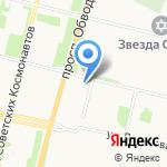 Купеческая лавка на Садовой на карте Архангельска