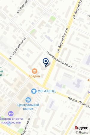 Персона на карте Архангельска