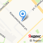 Почтовое отделение связи №72 на карте Архангельска