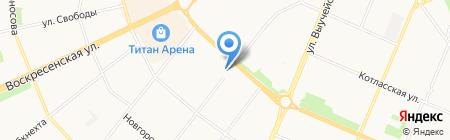 Солнечный лабиринт на карте Архангельска