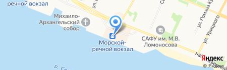Фифа на карте Архангельска