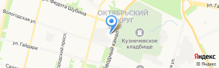Архангельская сбытовая компания на карте Архангельска
