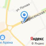Ница на карте Архангельска