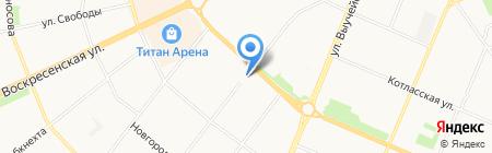 Домстройинвест на карте Архангельска