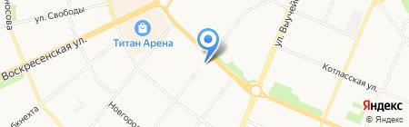 La Lubie на карте Архангельска