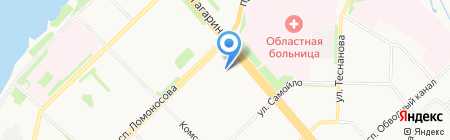 Детский сад №54 на карте Архангельска