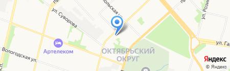 Гиппократ на карте Архангельска