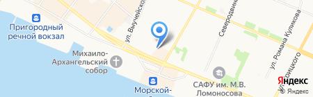 Розали на карте Архангельска