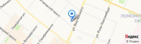 АКБ РосБанк на карте Архангельска