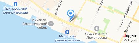 Беломор-финанс на карте Архангельска