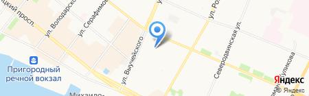 Северный юрист на карте Архангельска