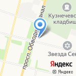 Ириски на карте Архангельска