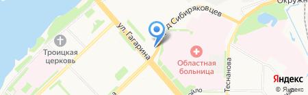Магазин детской подростковой одежды на проезде Сибиряковцев на карте Архангельска