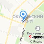 Военторг на карте Архангельска