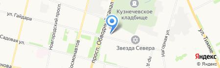 Фуд Маркет на карте Архангельска