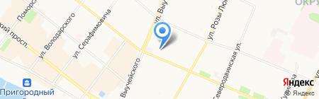 Средняя общеобразовательная школа №9 на карте Архангельска
