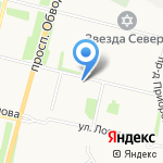 На Садовой 50 на карте Архангельска