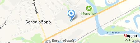 Владимирский завод керамических изделий на карте Боголюбово