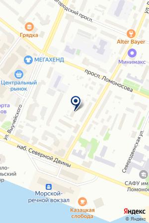 СЕВЕРНОЕ СТРАХОВОЕ ОБЩЕСТВО на карте Архангельска
