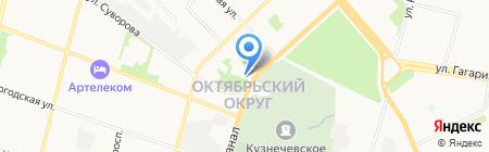 Военный комиссариат Архангельской области на карте Архангельска