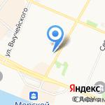 Северное речное пароходство на карте Архангельска