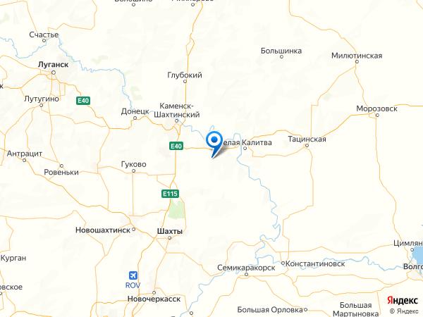 хутор Чекунов на карте